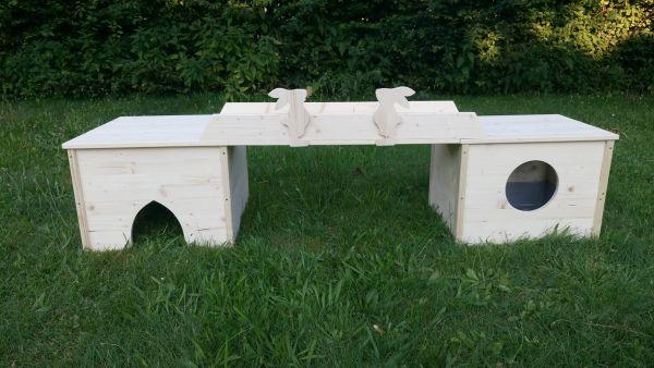 Kombination Toi Toi Box/Würfelhaus