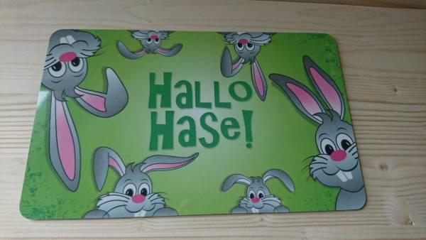 """Frühstücksbrettchen """"Hallo Hase"""""""
