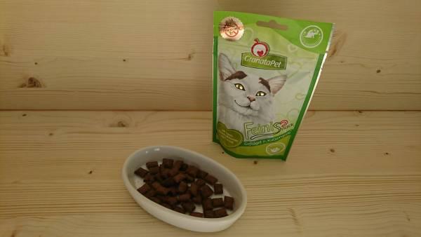GranataPet Katzensnack Feinis Geflügel & Katzengras