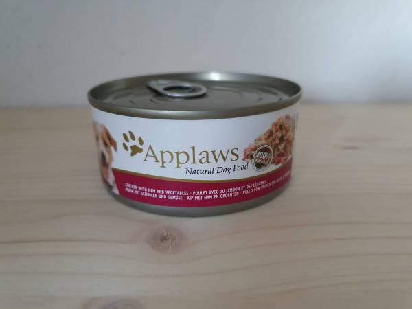 Applaws - Dog Nassfutter Dose Huhn, Schinken & Gemüse