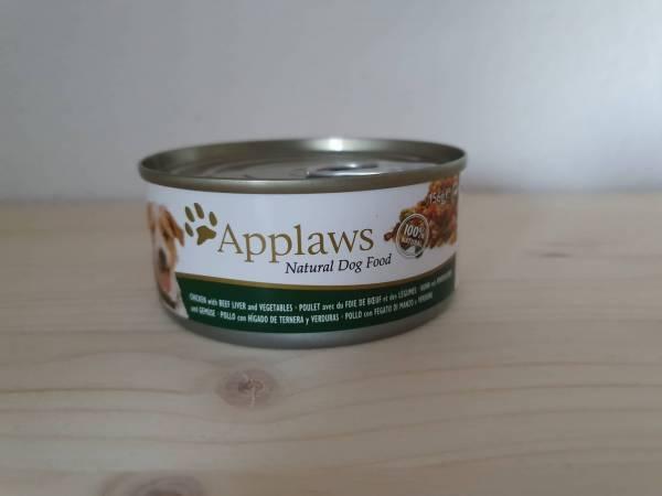 Applaws - Dog Nassfutter Dose Huhn, Rinderleber & Gemüse