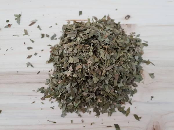 Ginkgoblätter, geschnitten